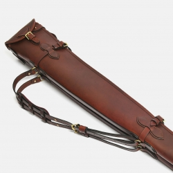 Albion Classic Collection Flap and Buckle Gun Slip Cognac