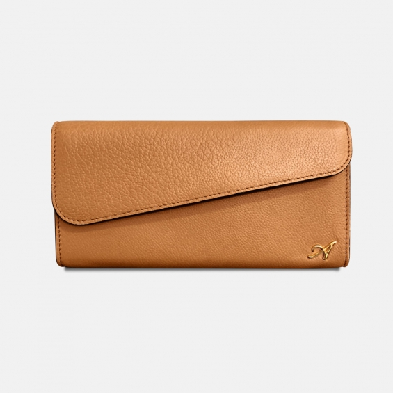 tan leather clutch bag